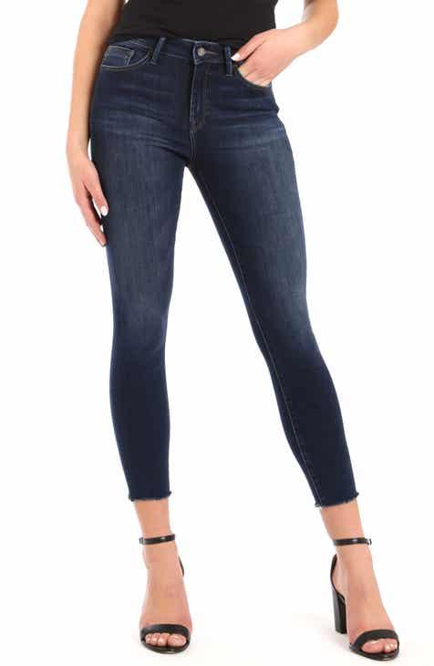 Mavi Jeans Alissa Ankle Jeans (Dark Brushed Fringe)