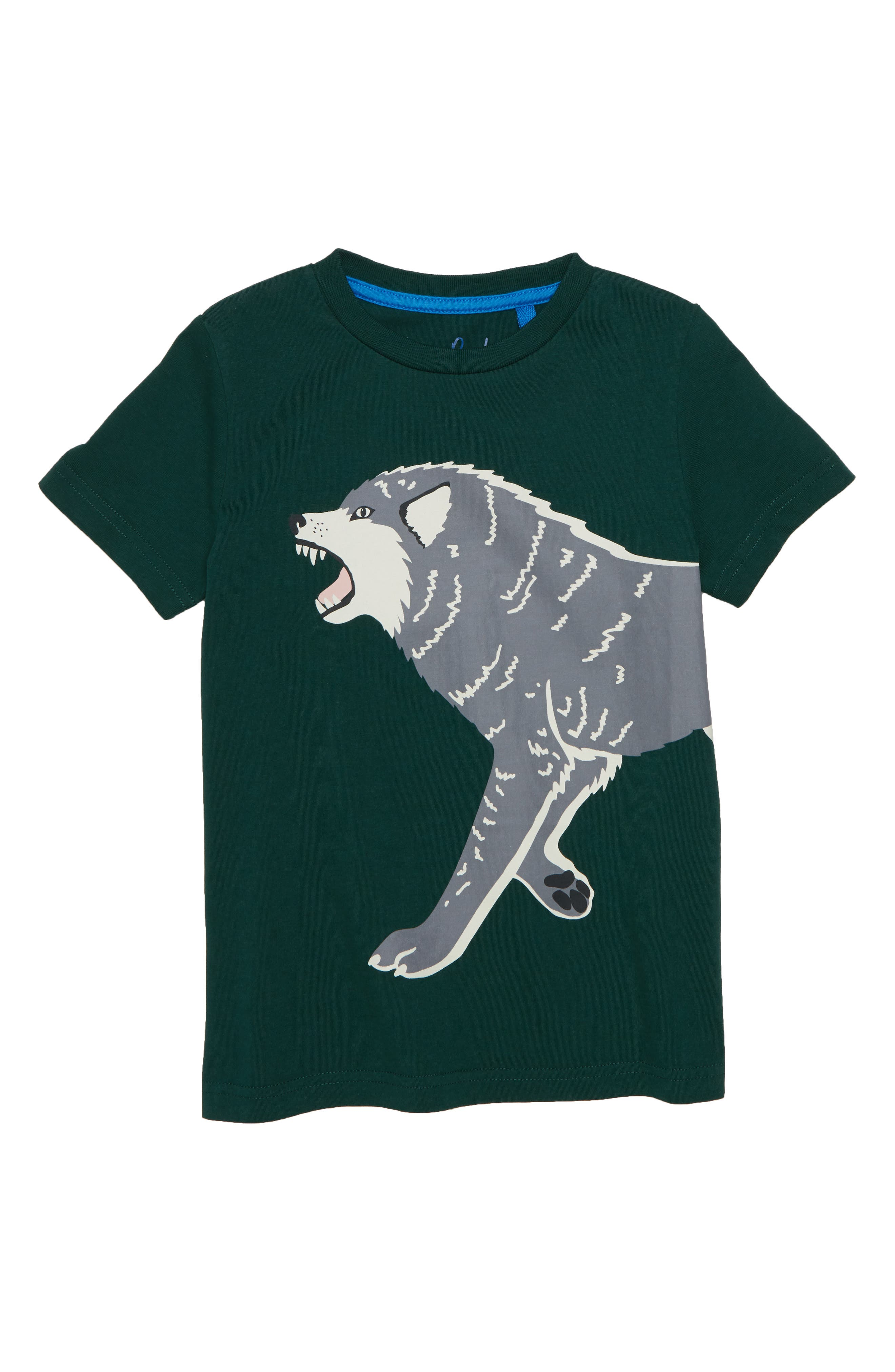 Glow in the Dark Wolf T-Shirt,                             Main thumbnail 1, color,                             Scotts Pine Green