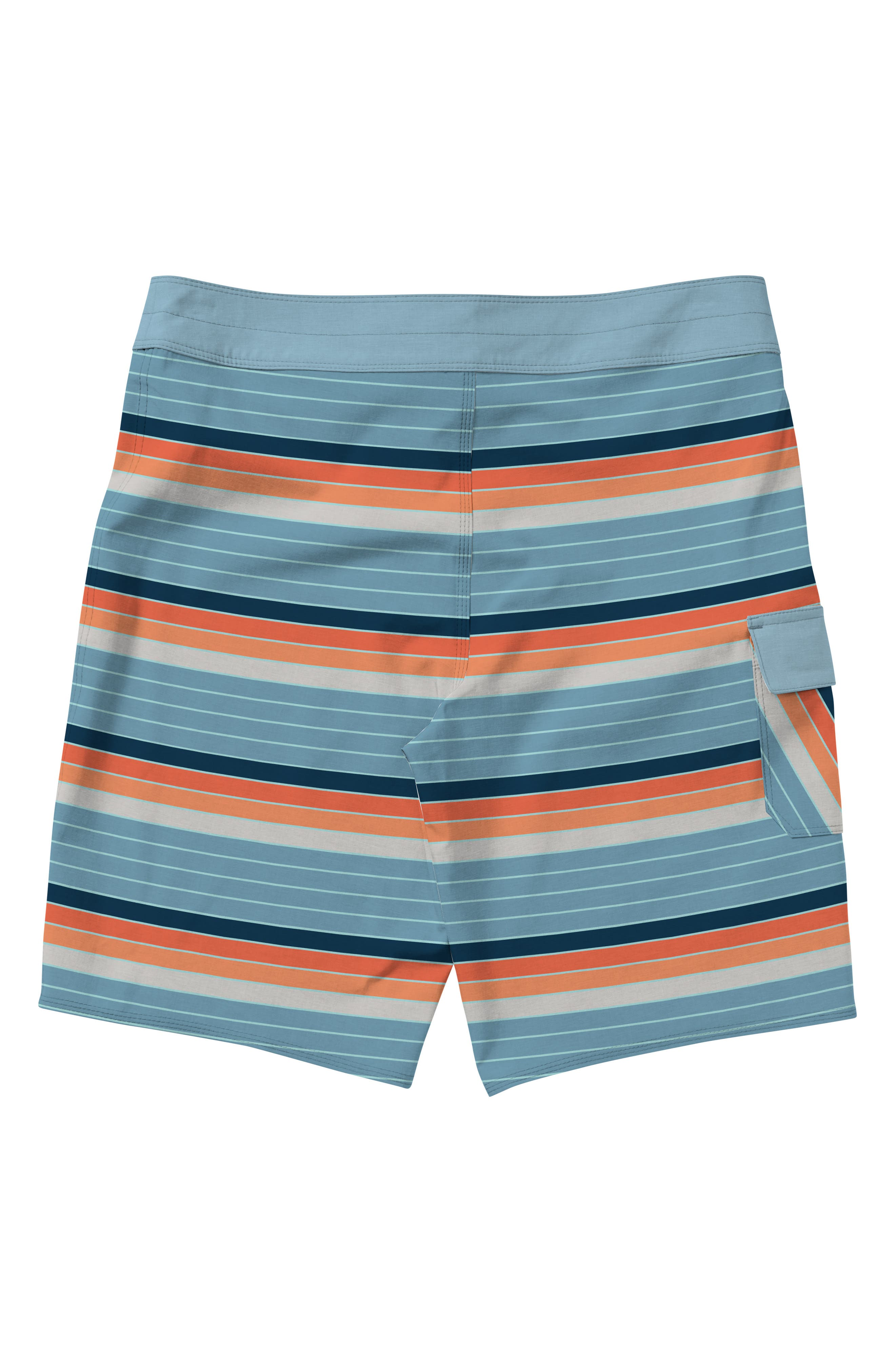 All Day OG Stripe Board Shorts,                             Alternate thumbnail 2, color,                             Coral