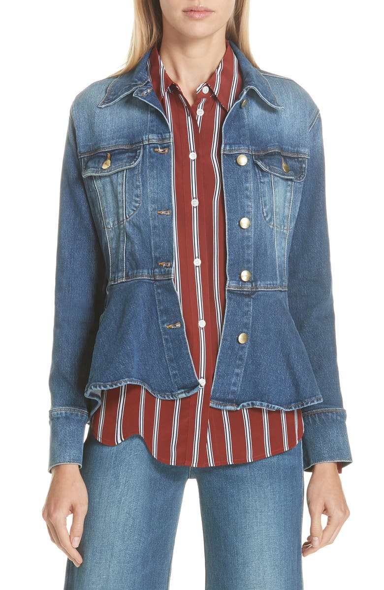 Flounce Denim Jacket
