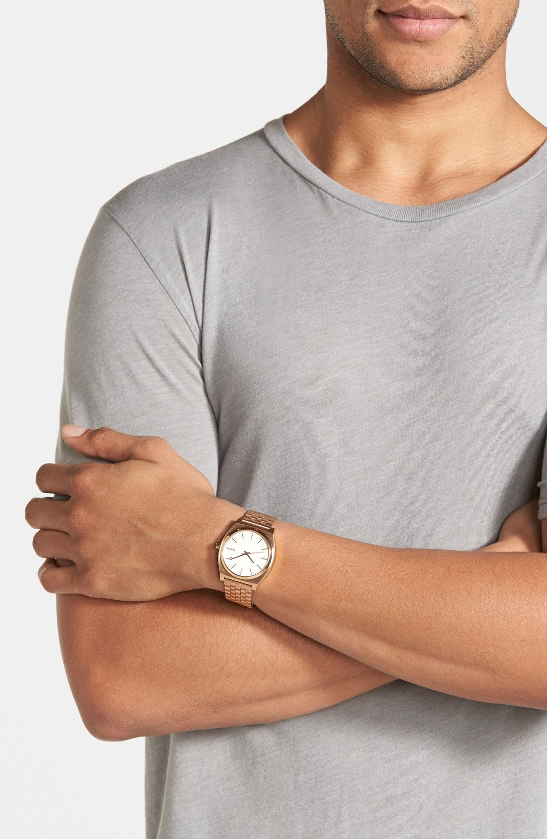 'The Time Teller' Watch, 37mm,                             Alternate thumbnail 3, color,                             Rose Gold
