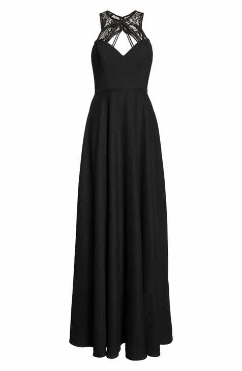 78bae2d64e Hayley Paige Occasions Lace   Chiffon Halter Gown