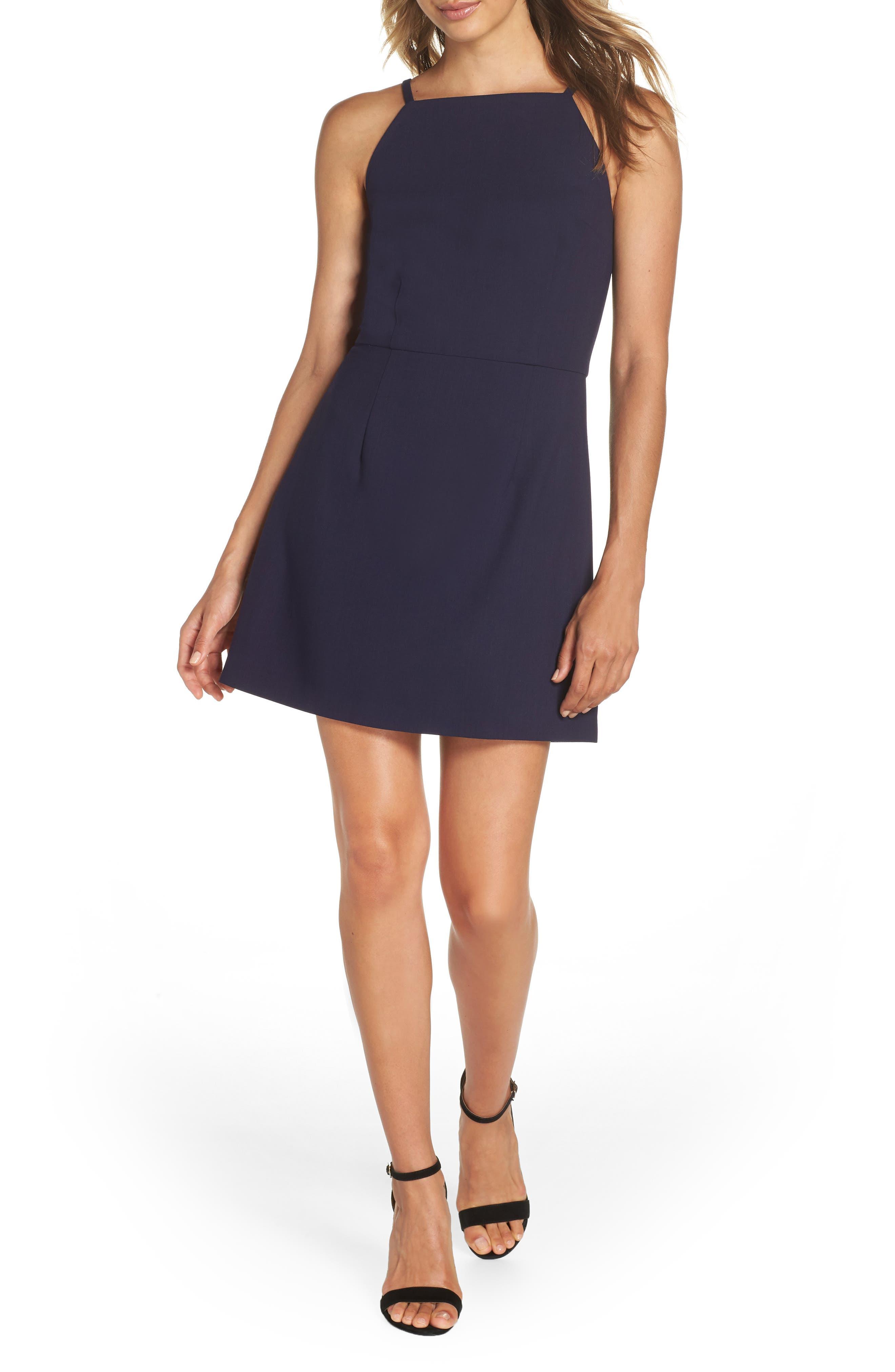 Whisper Light Sheath Dress,                             Main thumbnail 1, color,                             Duchess Blue