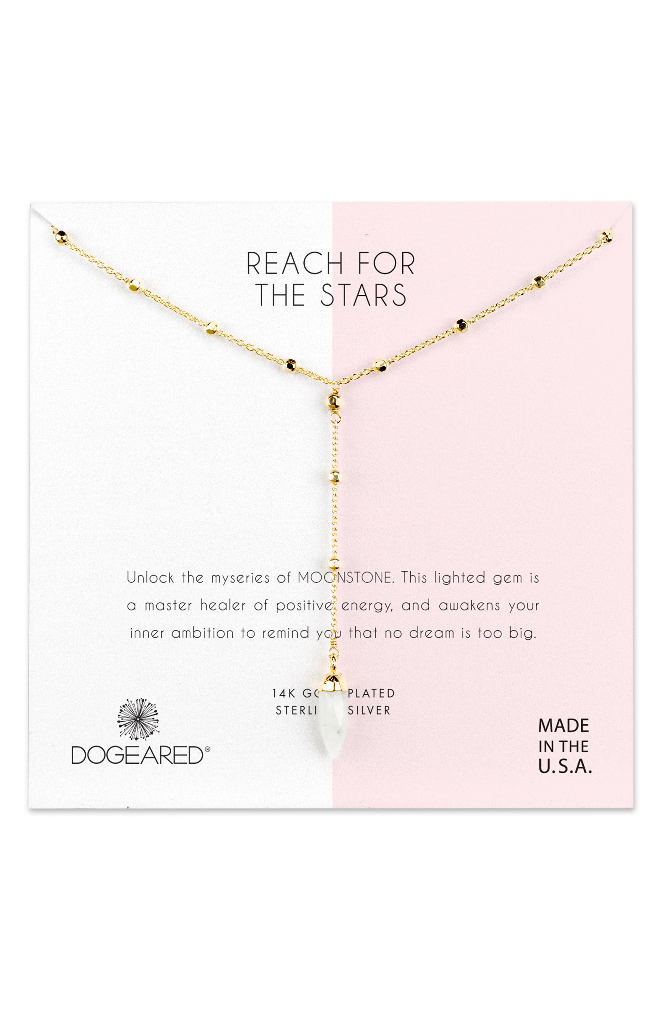 DOGEARED REACH FOR THE STARS Y-NECKLACE