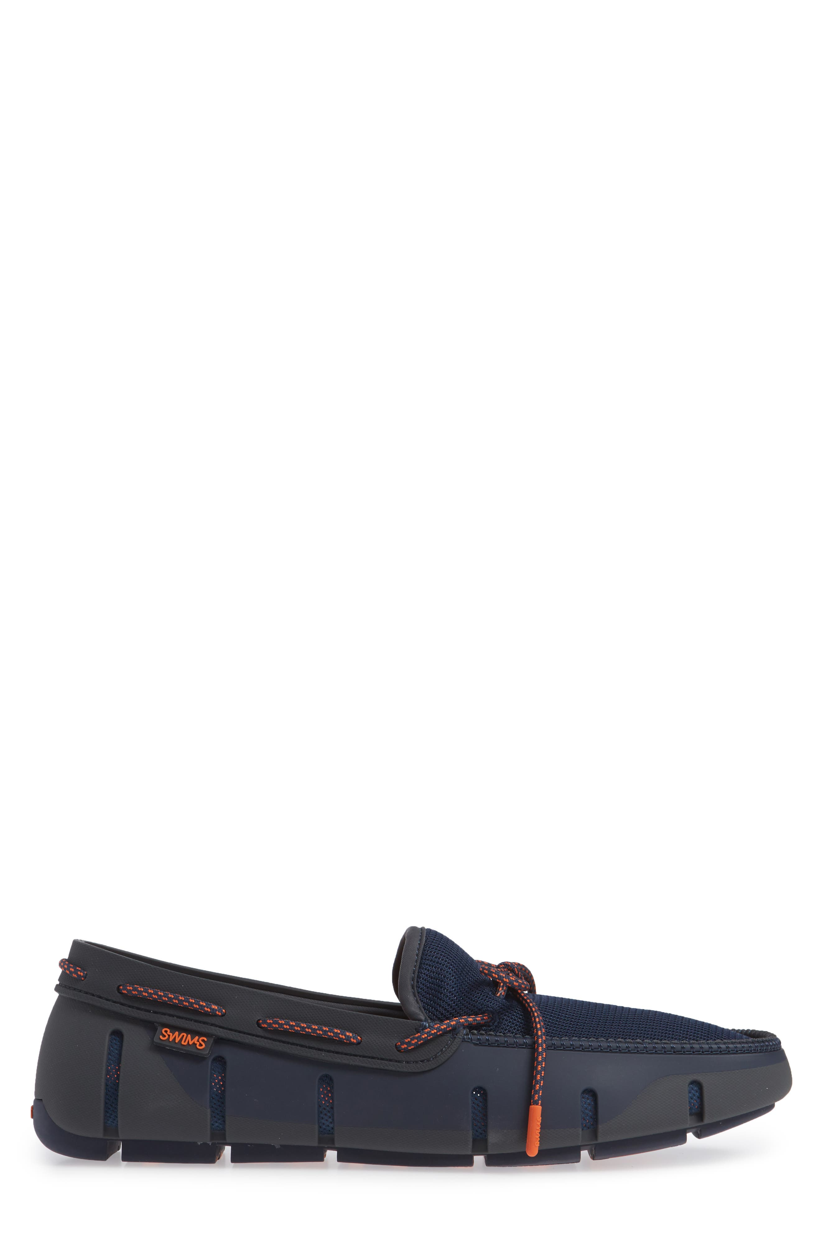 Stride Lace Loafer,                             Alternate thumbnail 5, color,                             Navy/ Dark Gray