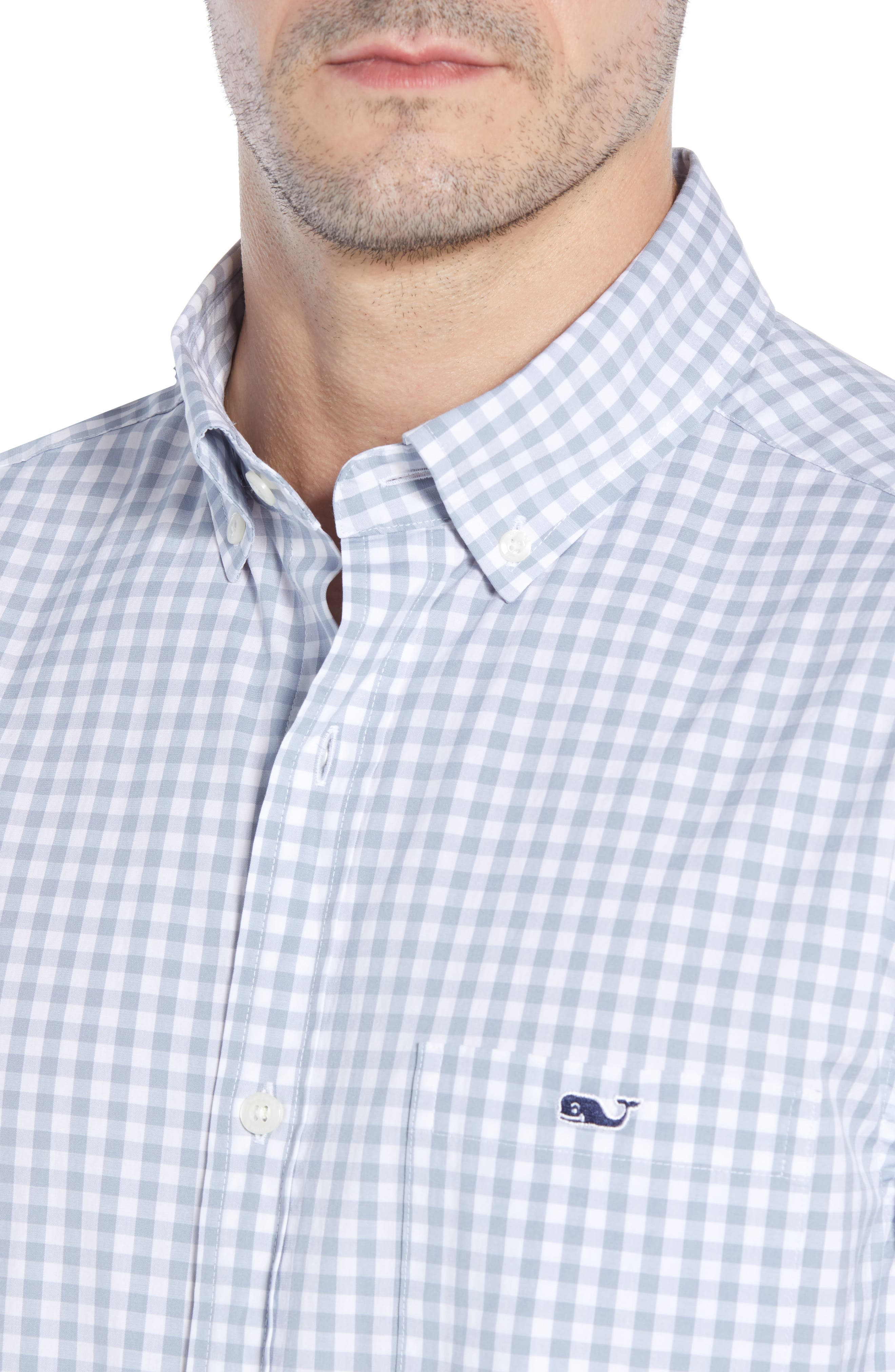 Carleton Classic Fit Gingham Sport Shirt,                             Alternate thumbnail 2, color,                             Hammerhead