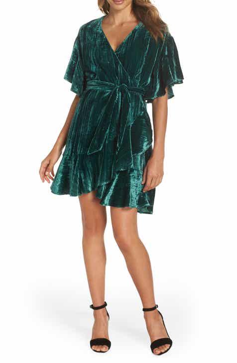 BB Dakota Night Fever Velvet Wrap Dress by BB DAKOTA