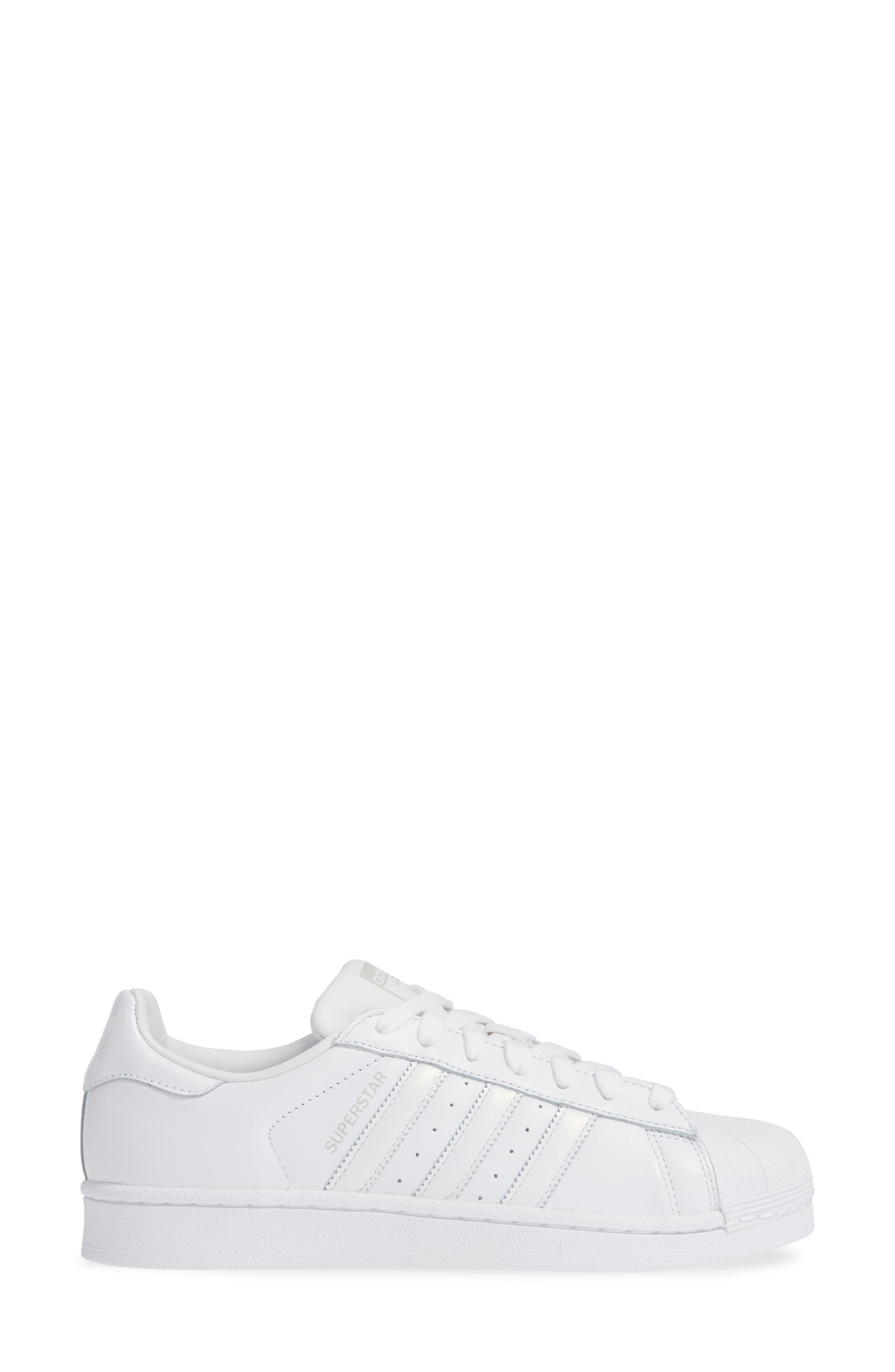Superstar Sneaker,                             Alternate thumbnail 5, color,                             White/ White/ Grey One