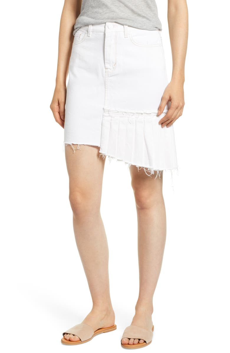 Corrinna Asymmetrical Denim Skirt