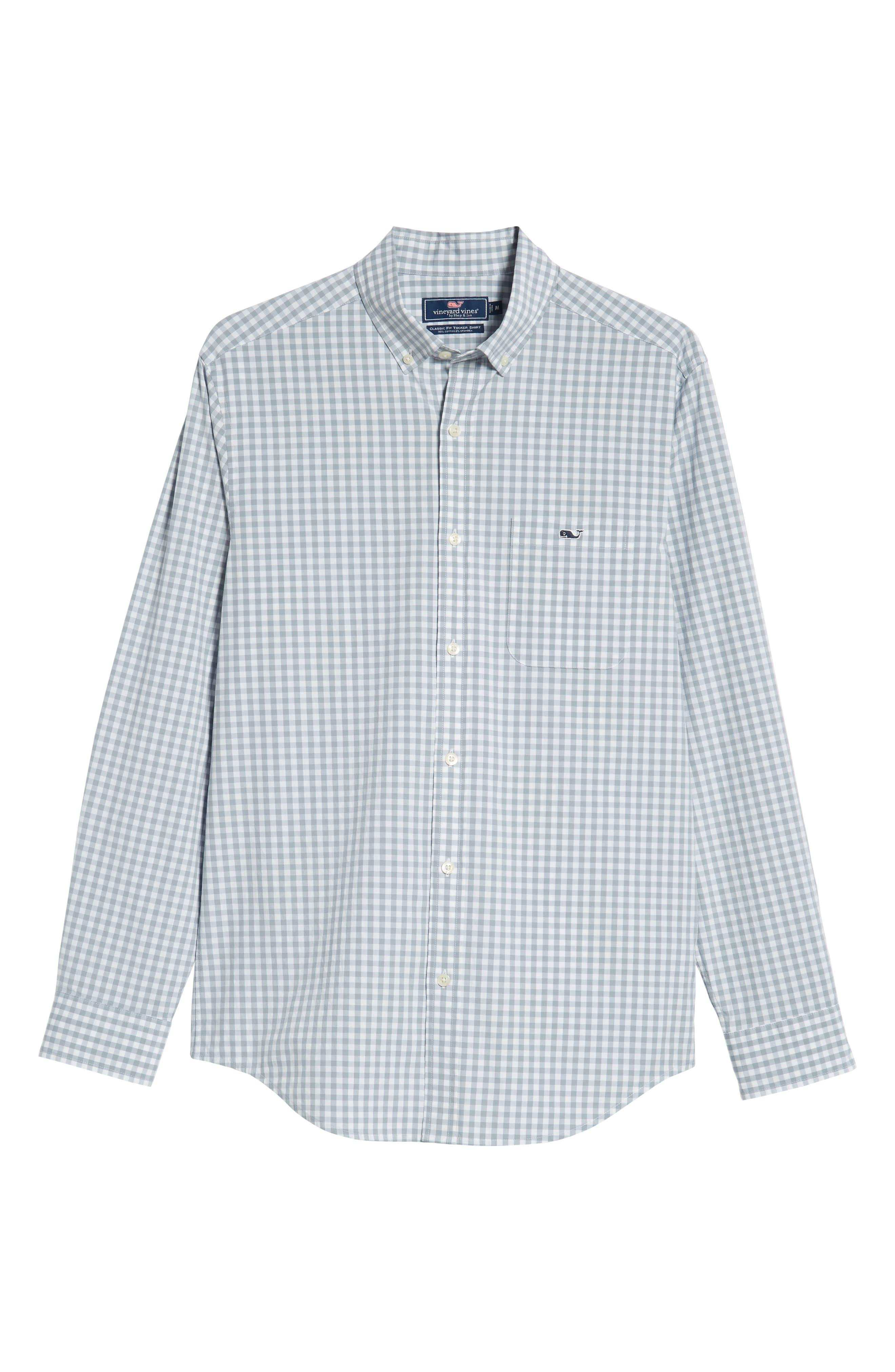 Carleton Classic Fit Gingham Sport Shirt,                             Alternate thumbnail 5, color,                             Hammerhead