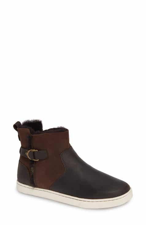 5819d49c128b OluKai Pehuea Pa I Genuine Shearling Sneaker Boot (Women)