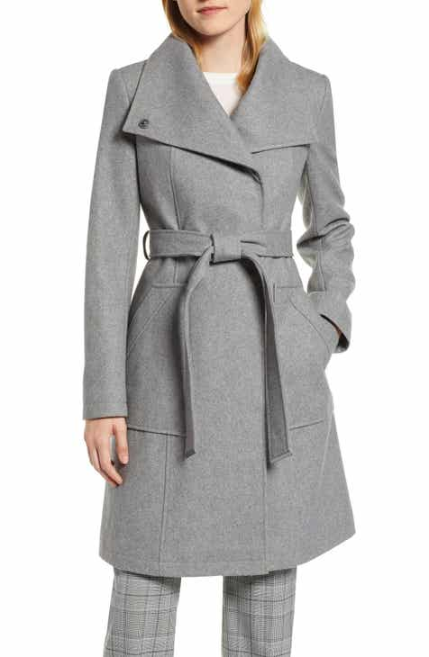 c156d846371fc Halogen® Belted Wool Blend Coat (Regular   Petite)