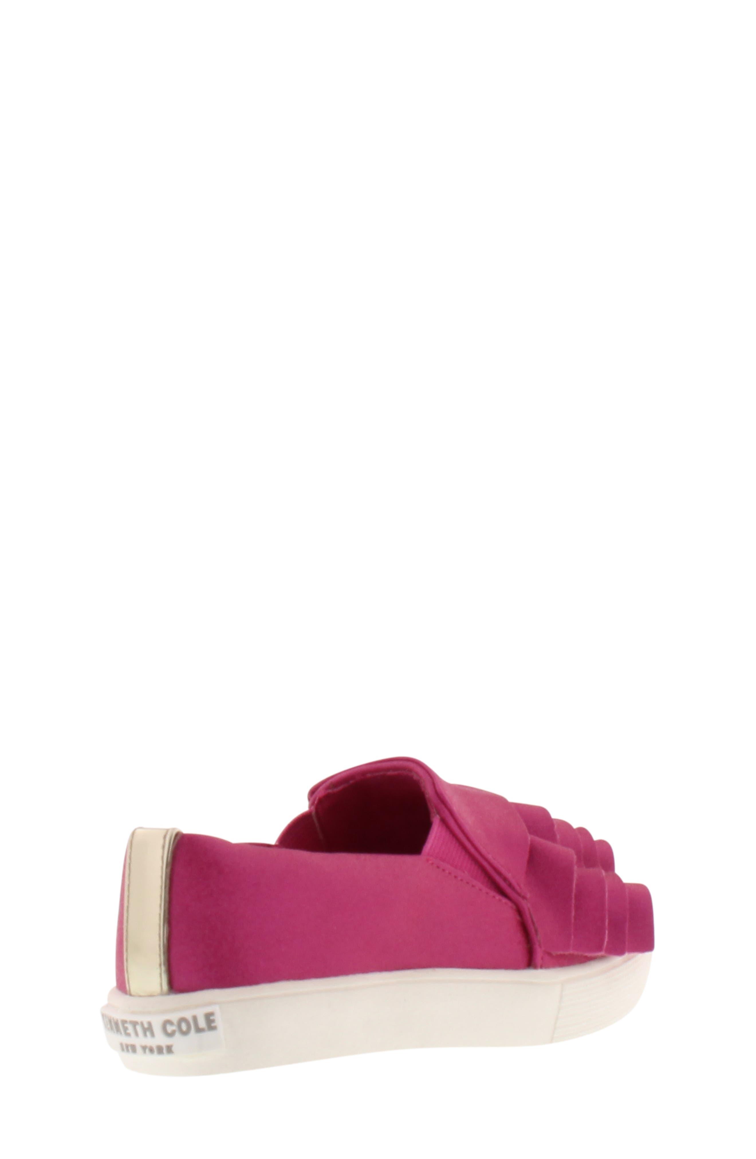 Shimmery Kam Ruffle Slip-On Sneaker,                             Alternate thumbnail 2, color,                             Fuchsia