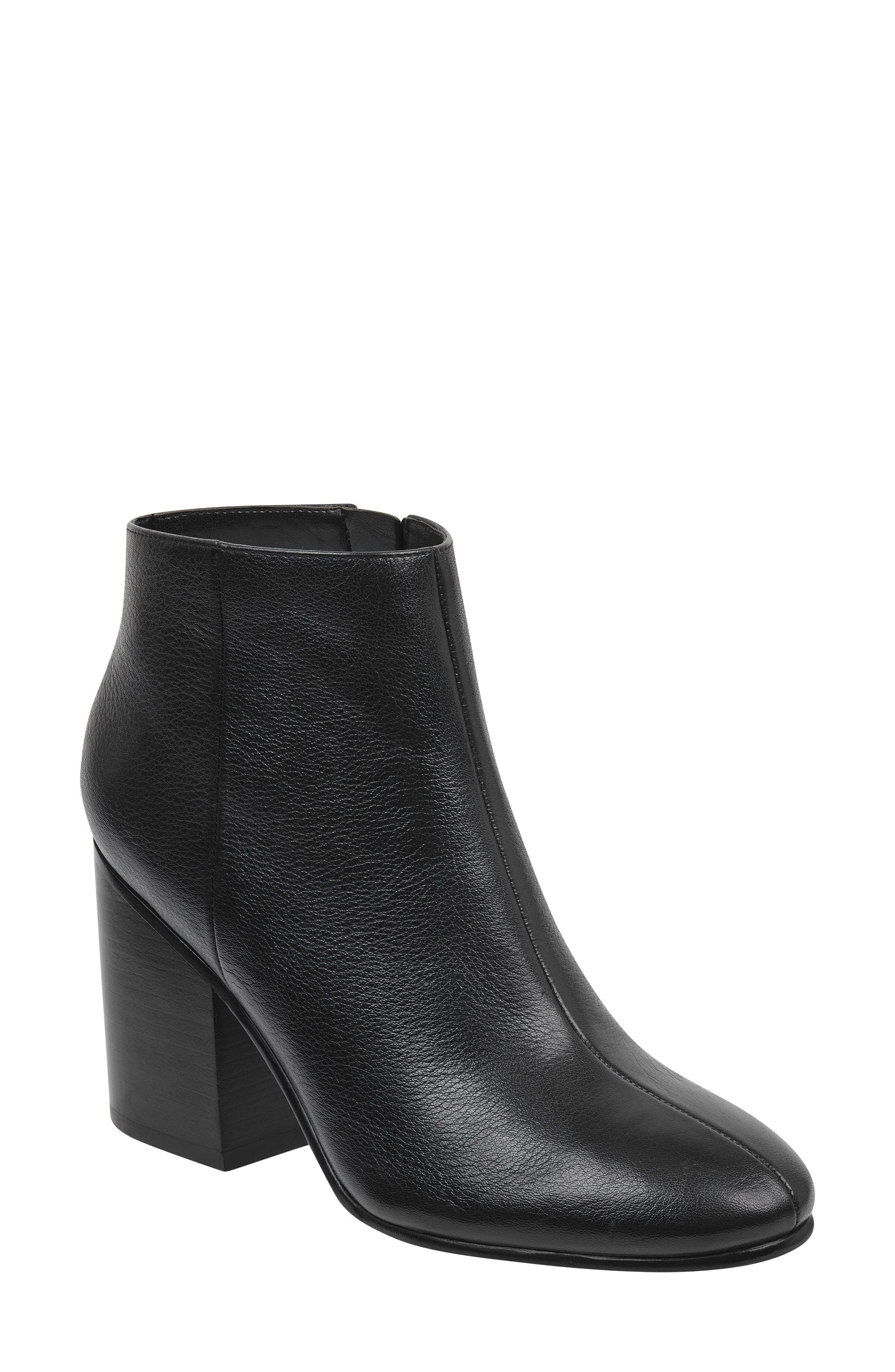 Quella Bootie,                         Main,                         color, Black Leather