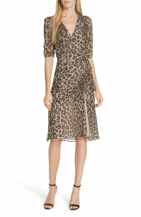 0ea763ab69 NICHOLAS Ruched Leopard Print Silk Dress