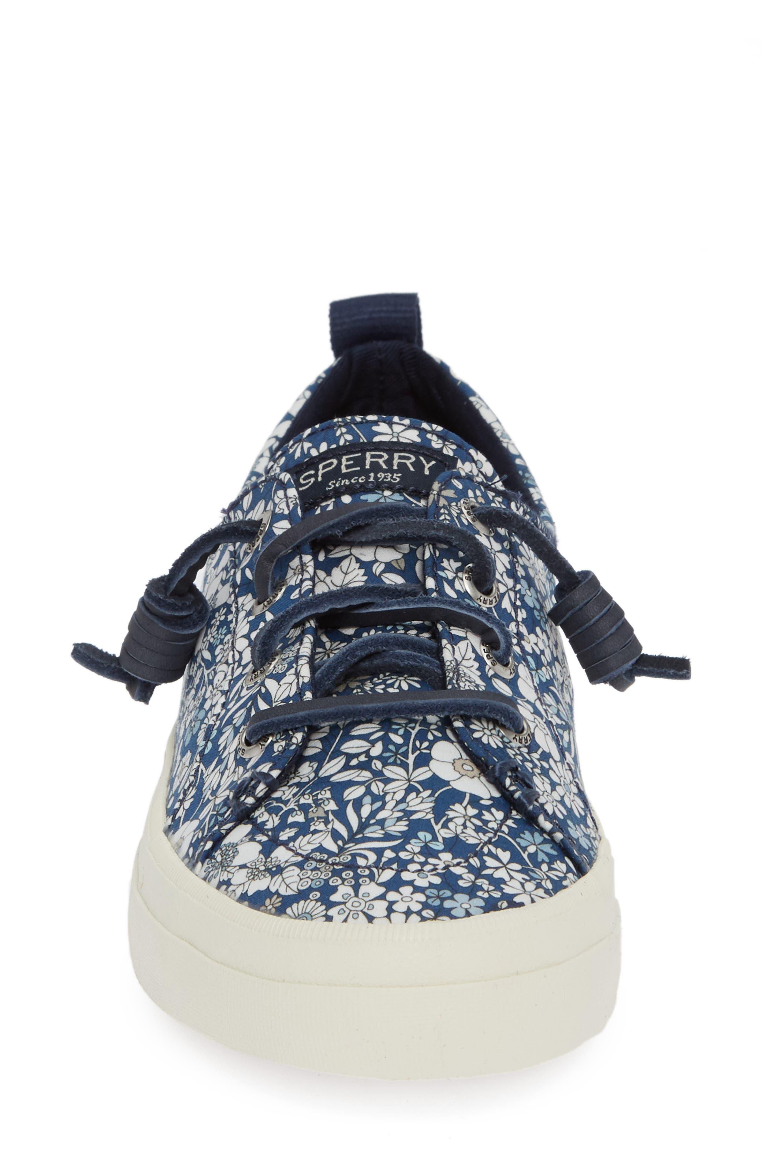 Crest Vibe Sneaker,                             Alternate thumbnail 3, color,                             Navy/ Multi Canvas