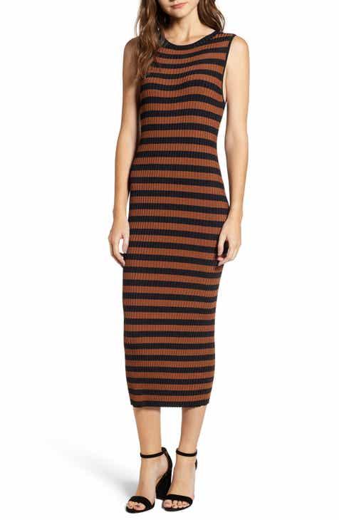 f85524e570b Chelsea28 Zip Detail Stripe Sweater Dress