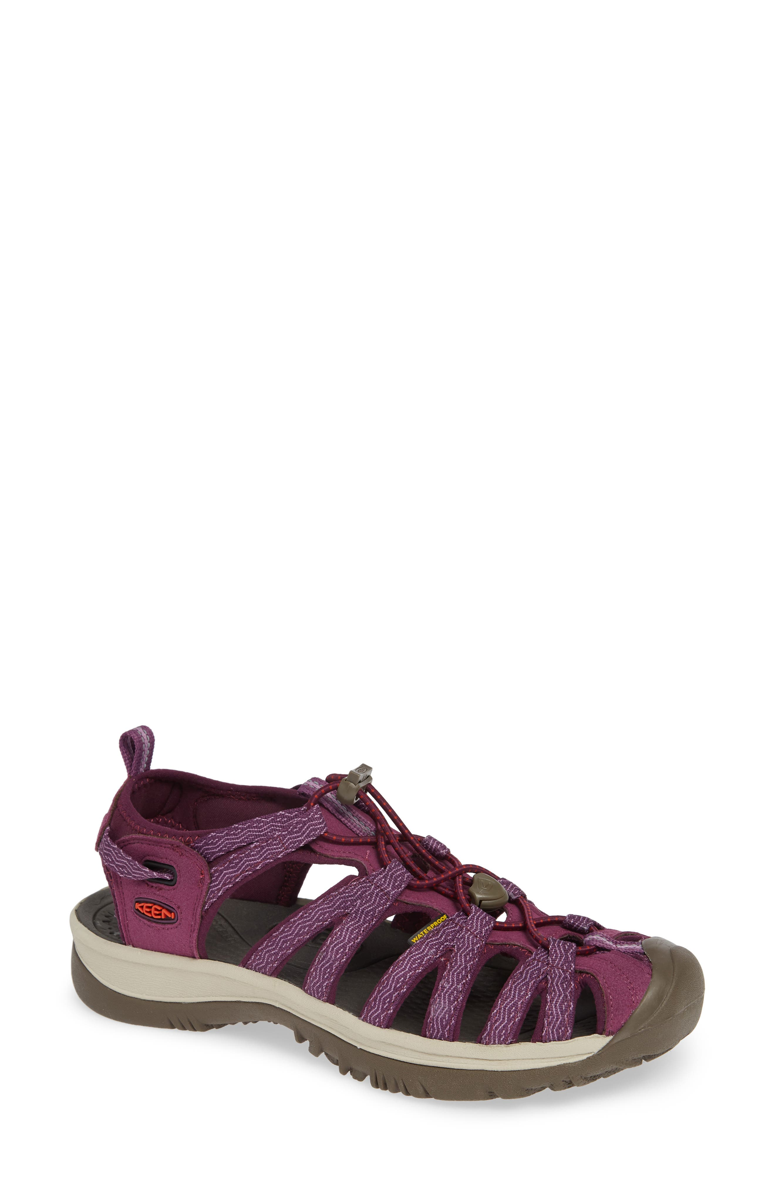 'Whisper' Water Friendly Sport Sandal,                         Main,                         color, Grape Kiss/ Grape Wine