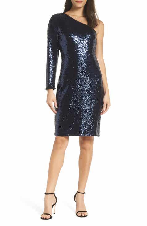 Morgan & Co. One-Shoulder Dress