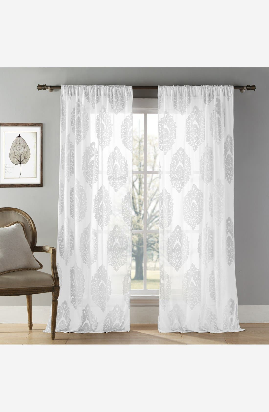 Alternate Image 1 Selected - Duck River Textile 'Sophie' Damask Velvet Burnout Window Panels (Set of 2)
