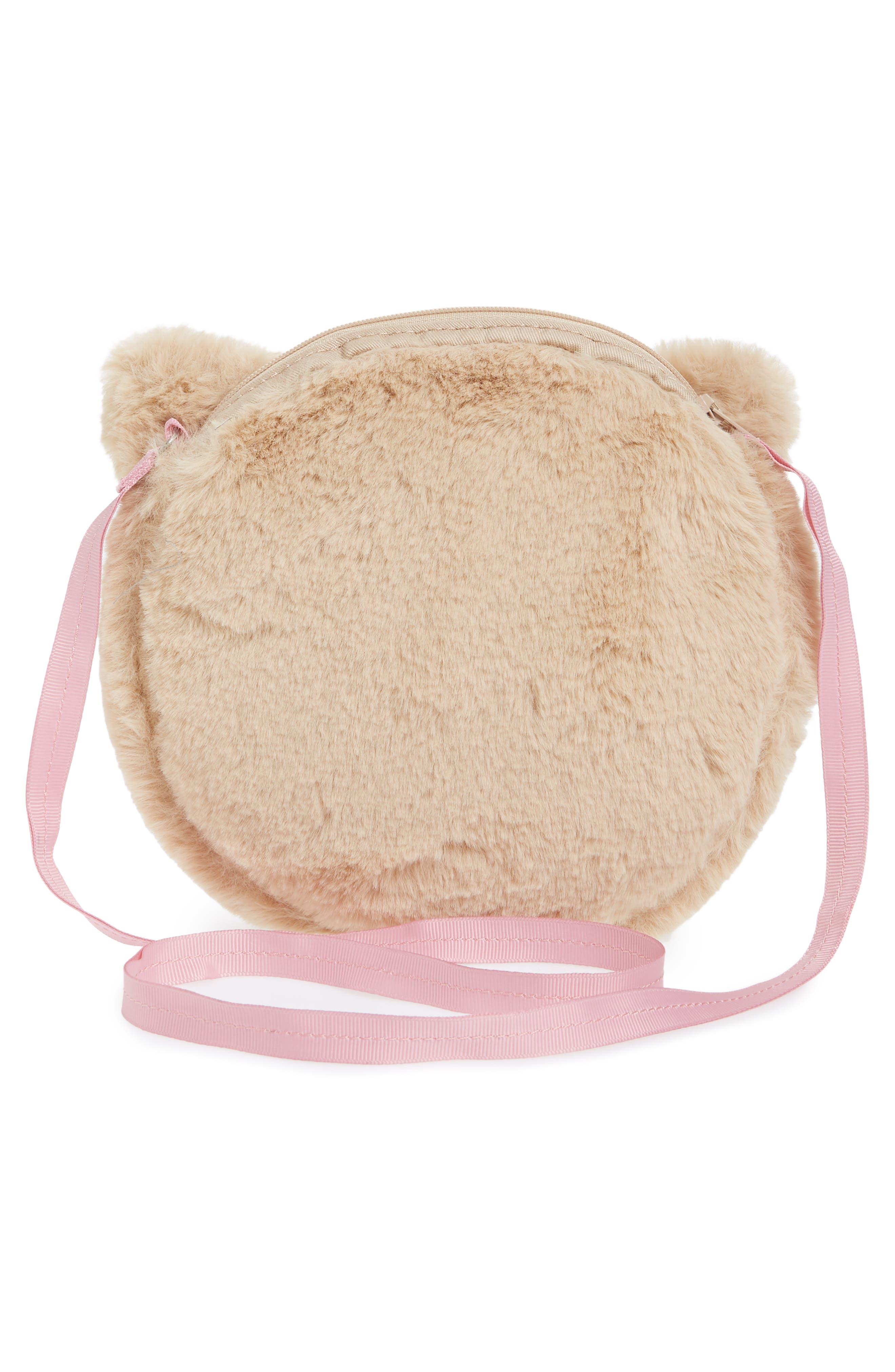 Kitty Faux Fur Crossbody Bag,                             Alternate thumbnail 2, color,                             Oat