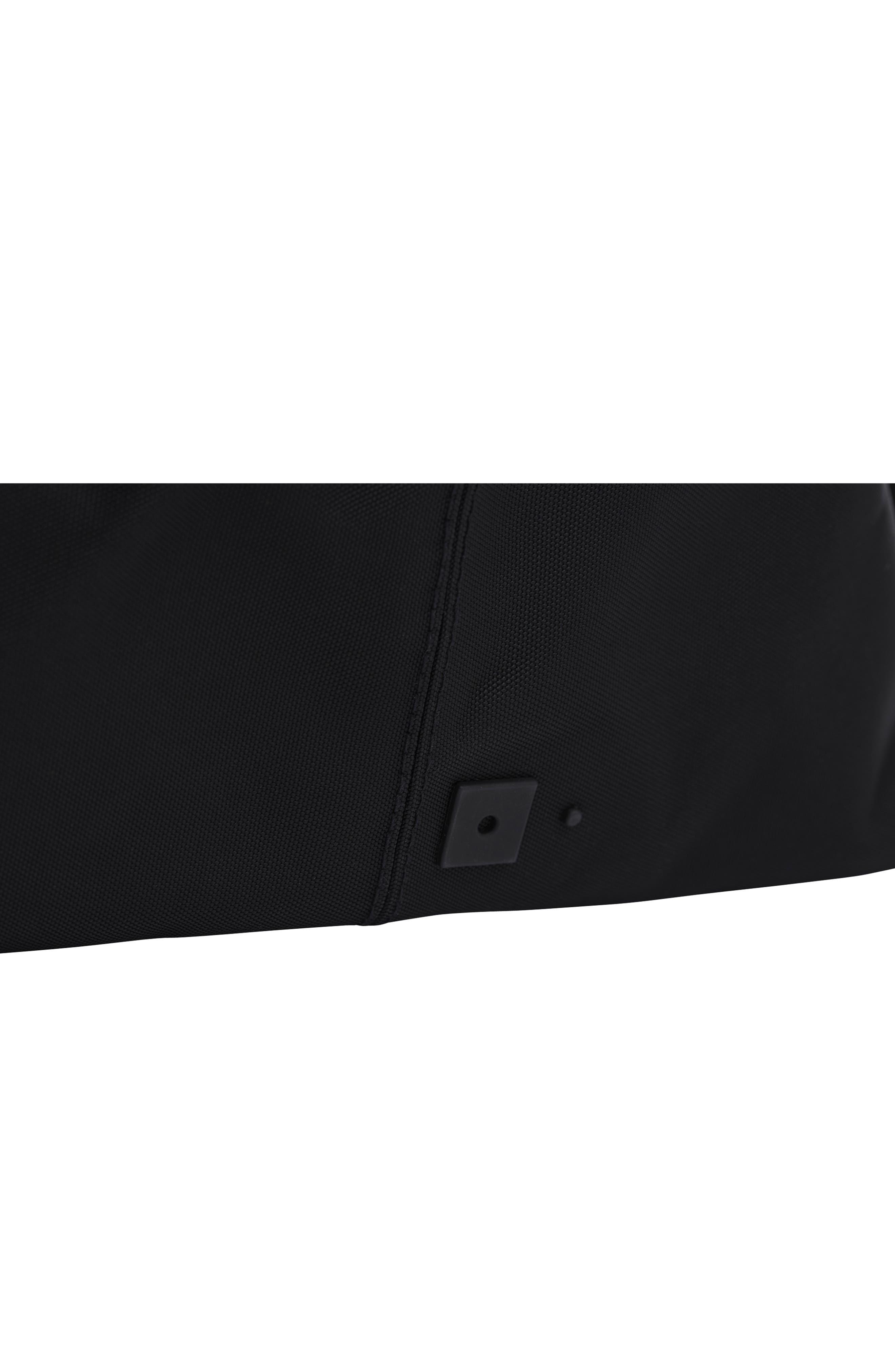 Lightweight Duffel Bag,                             Alternate thumbnail 8, color,                             Black Nylon/ Black Leather