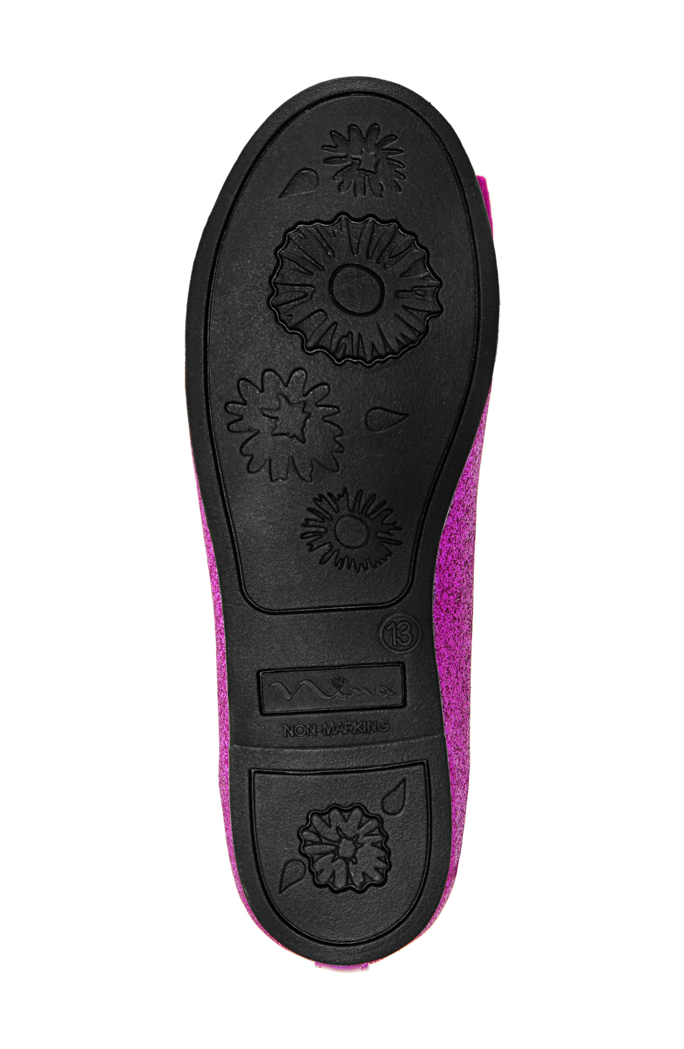 Larabeth Glitter Ballet Flat,                             Alternate thumbnail 3, color,                             Berry Metallic/ Glitter