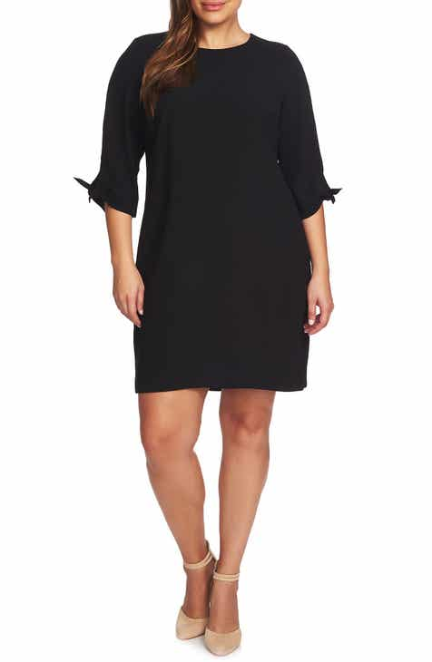 7874b5895d6a8 CeCe Tie Sleeve Shift Dress (Plus Size)