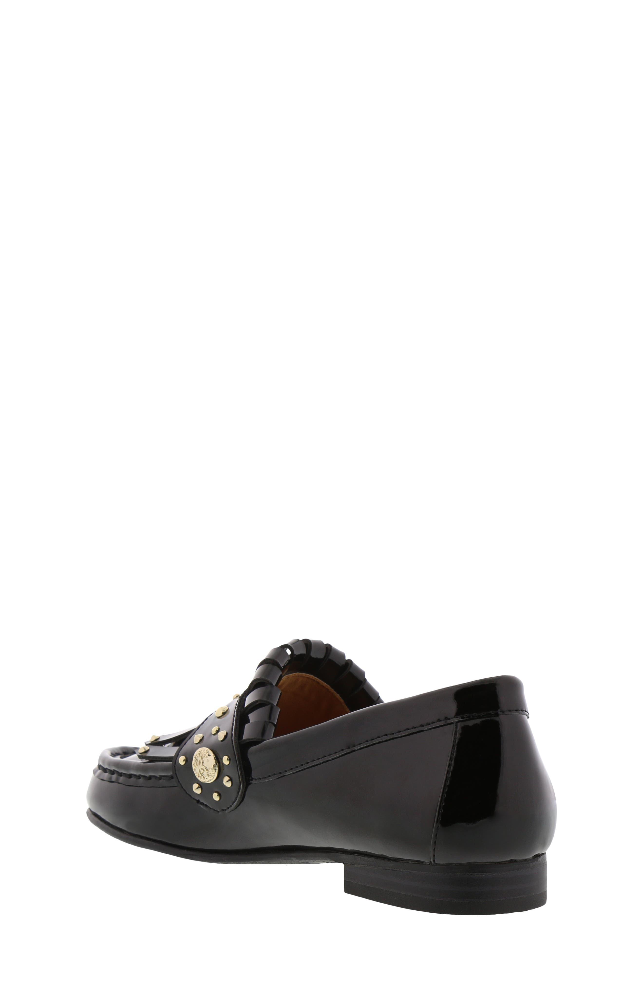 Gabriella Serona Studded Kiltie Loafer,                             Alternate thumbnail 2, color,                             Black