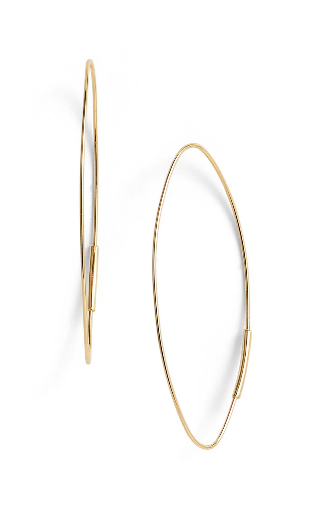 Alternate Image 1 Selected - Lana Jewelry 'Magic' Small Oval Hoop Earrings