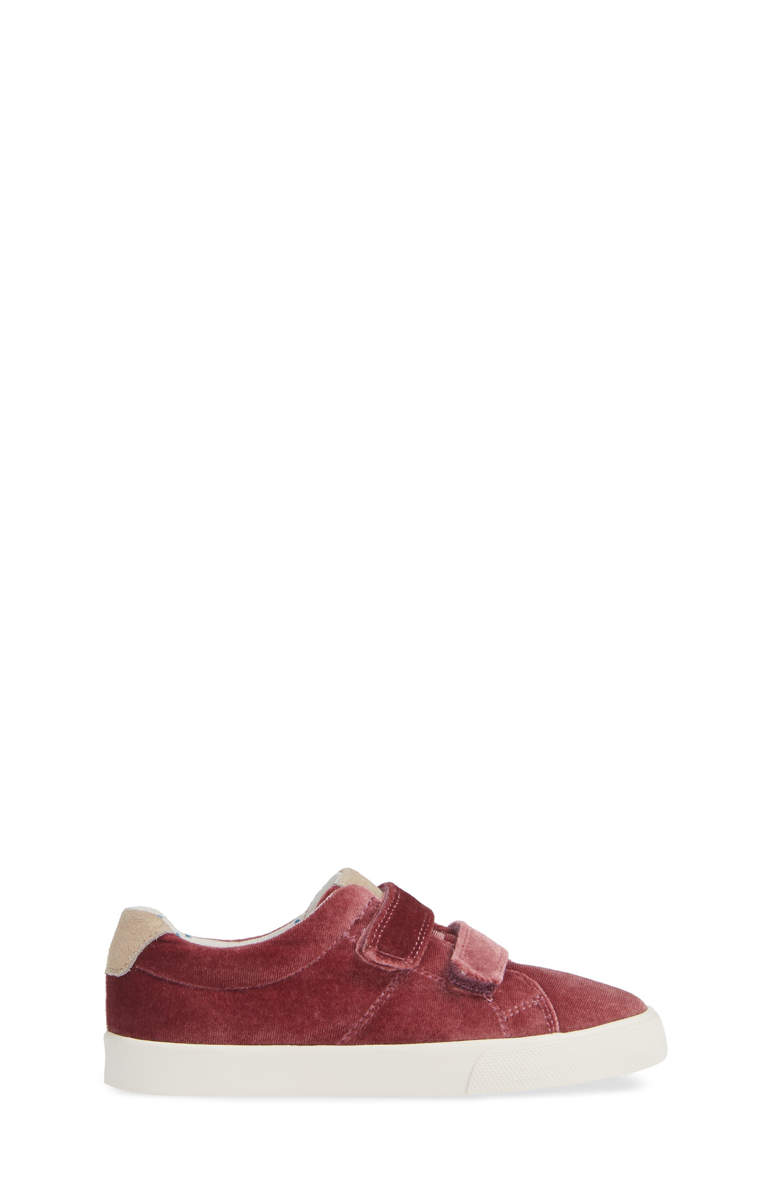 Mini Boden Fun Low Top Sneaker,                             Alternate thumbnail 6, color,                             Deep Berry