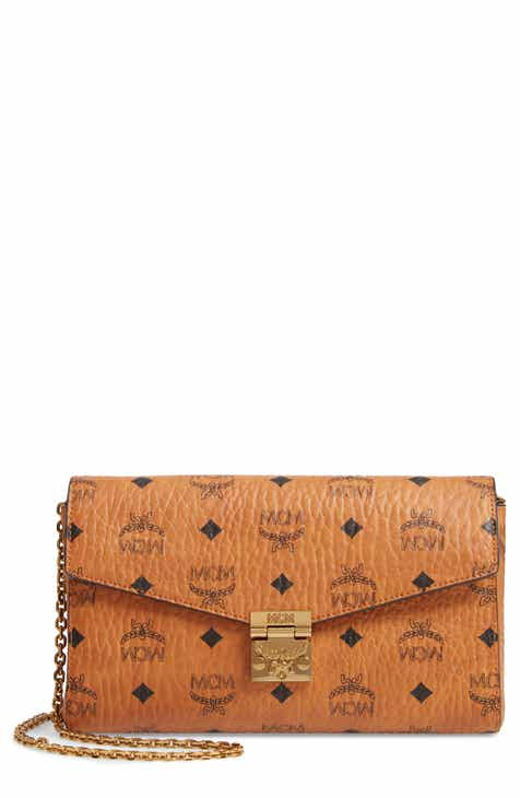 f996addc79988f MCM Millie Visetos Canvas Wallet on a Chain