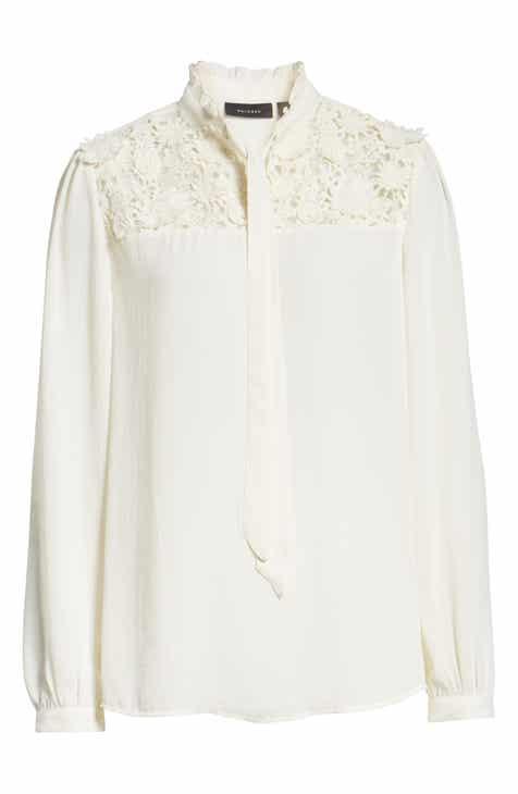 0860a603bae Halogen® Lace Yoke Blouse (Regular   Petite)