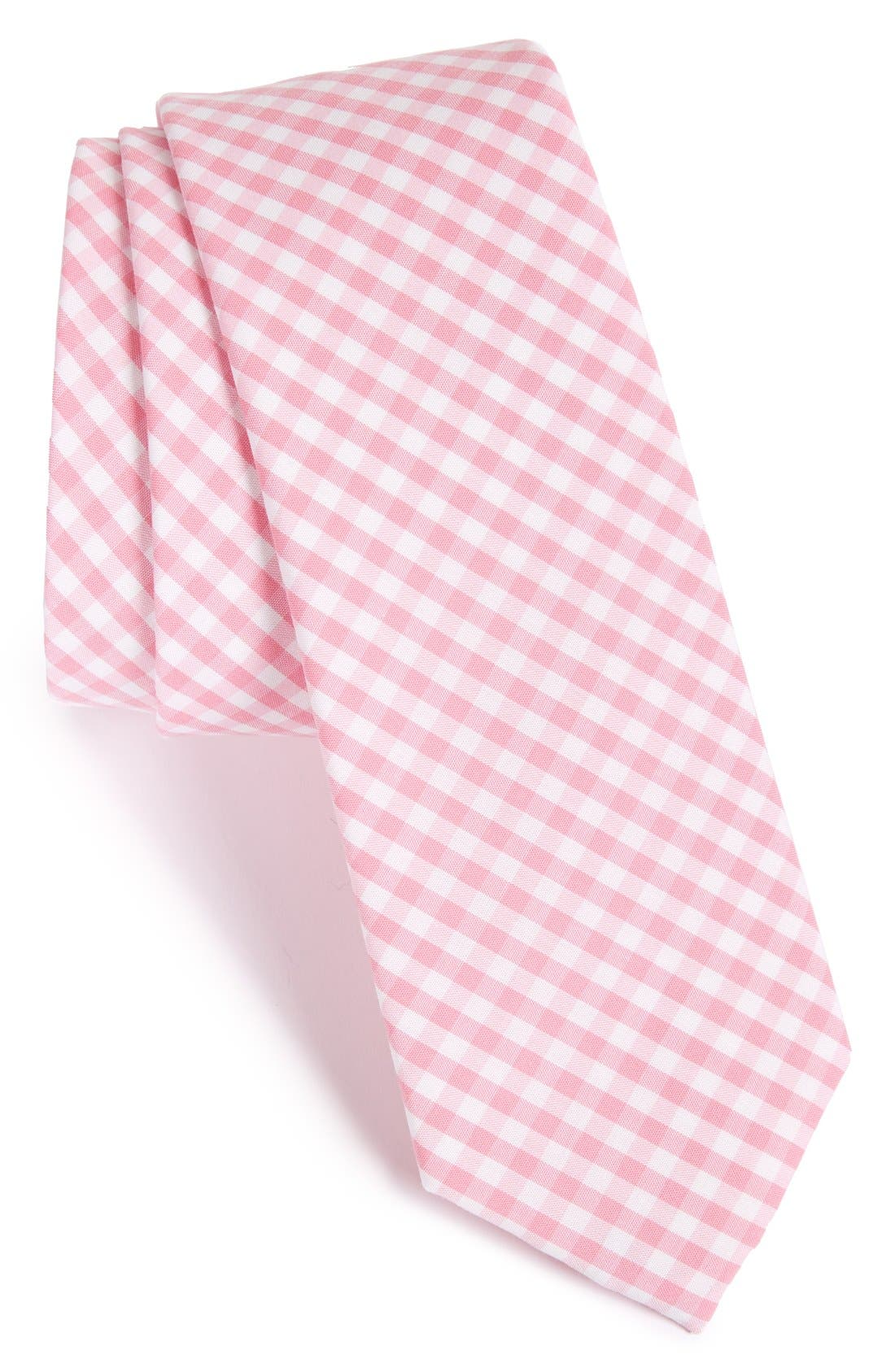 THE TIE BAR Check Cotton Tie