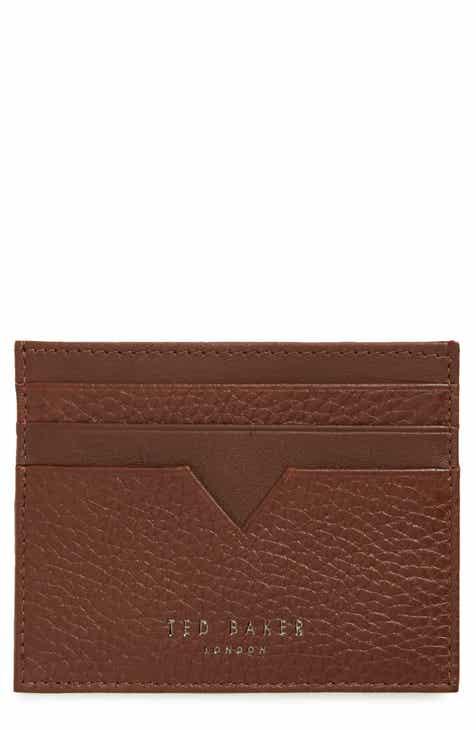 ted baker london pebbled leather card holder - Leather Card Holder Wallet