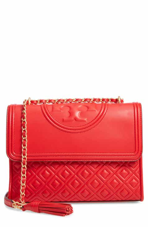 7208c819eb2 Tory Burch Fleming Leather Convertible Shoulder Bag