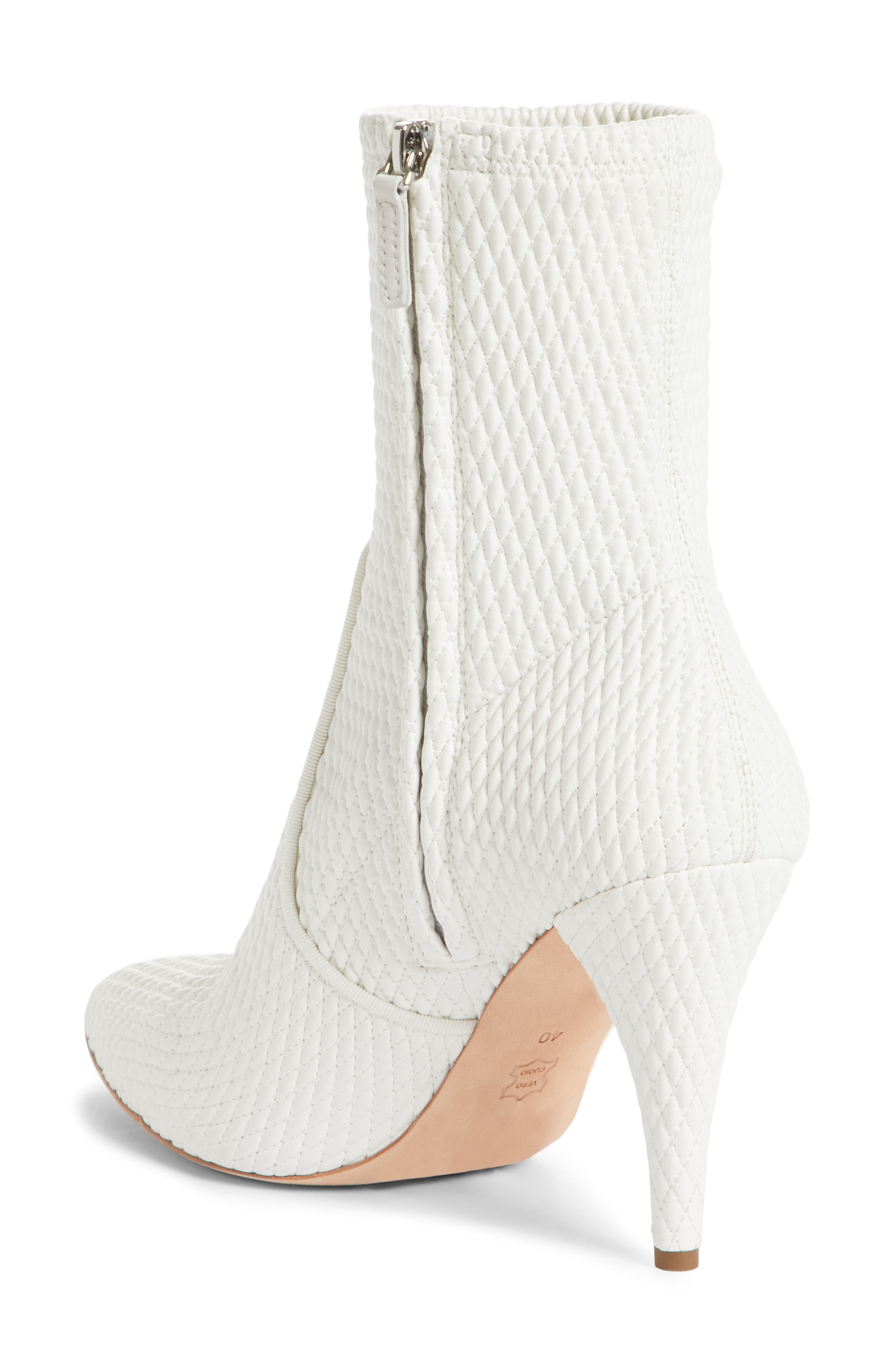 Hedde Pointy Toe Bootie,                             Alternate thumbnail 2, color,                             White