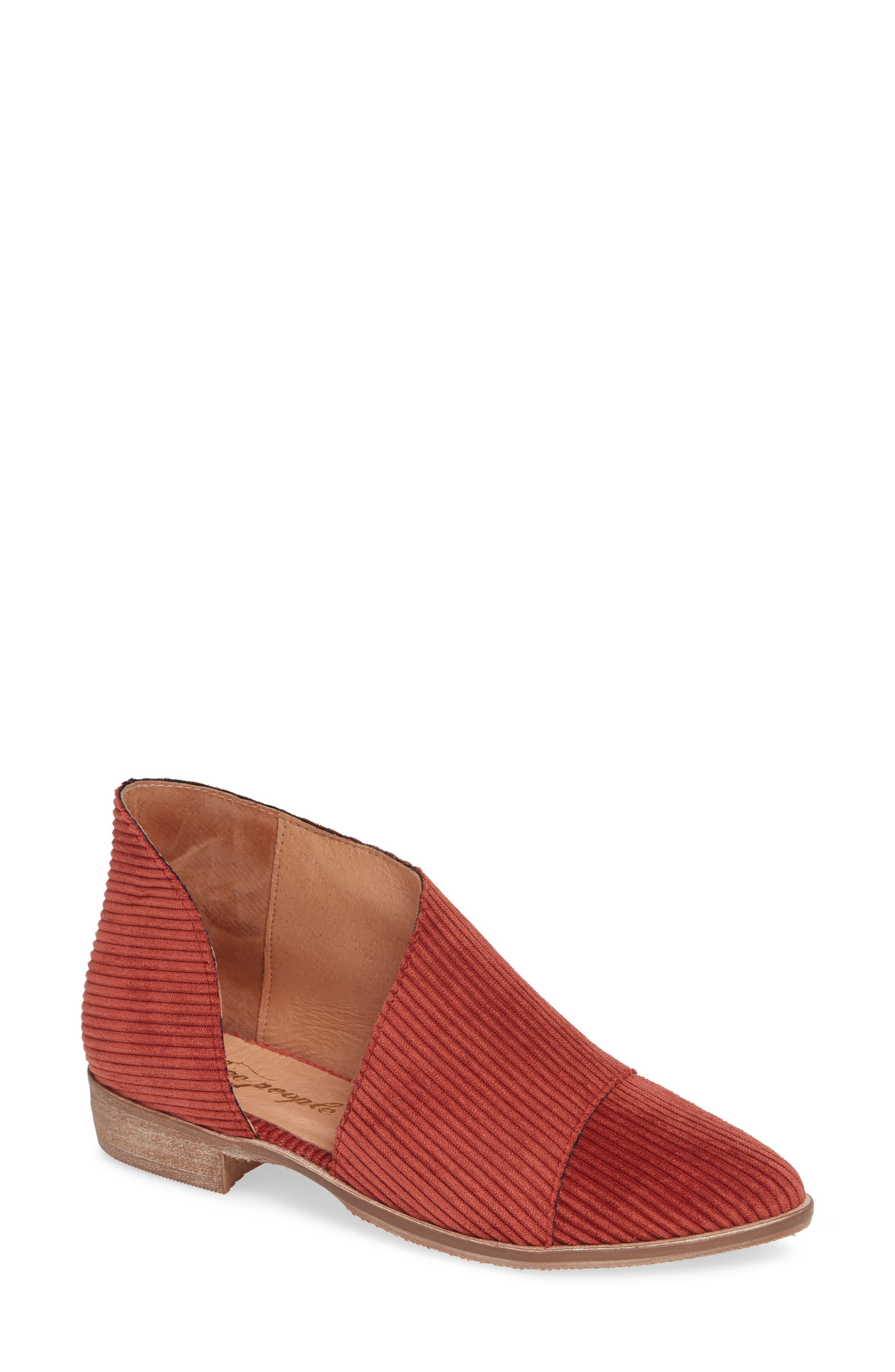 'Royale' Pointy Toe Flat,                         Main,                         color, Burnt Orange