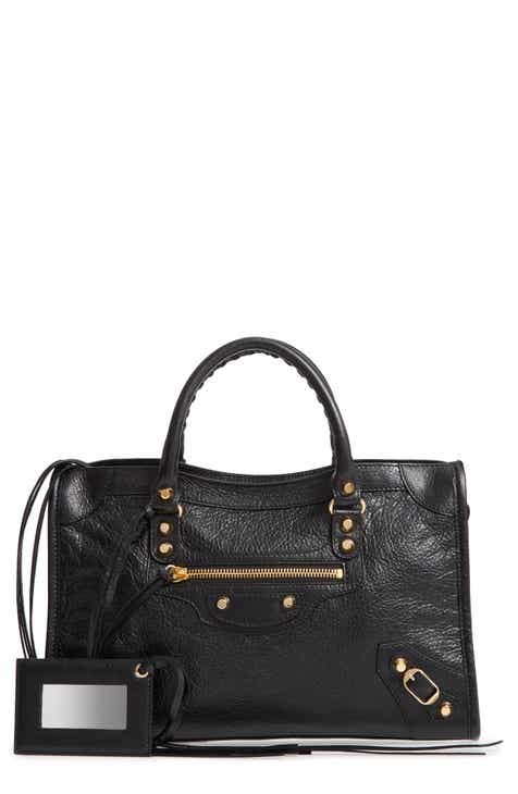 4ab03ec90757 Balenciaga Small Arena City Lambskin Leather Tote