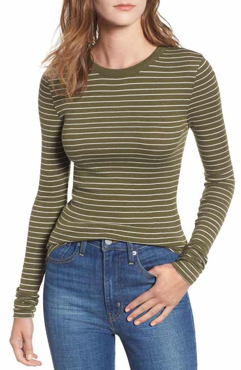 df14ba5b3f9 Ribbed Long Sleeve Tee (Regular   Plus Size)