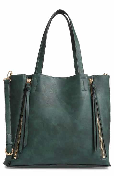 a0ff7ae60f7 Chelsea28 Leigh Convertible Zipper Faux Leather Tote