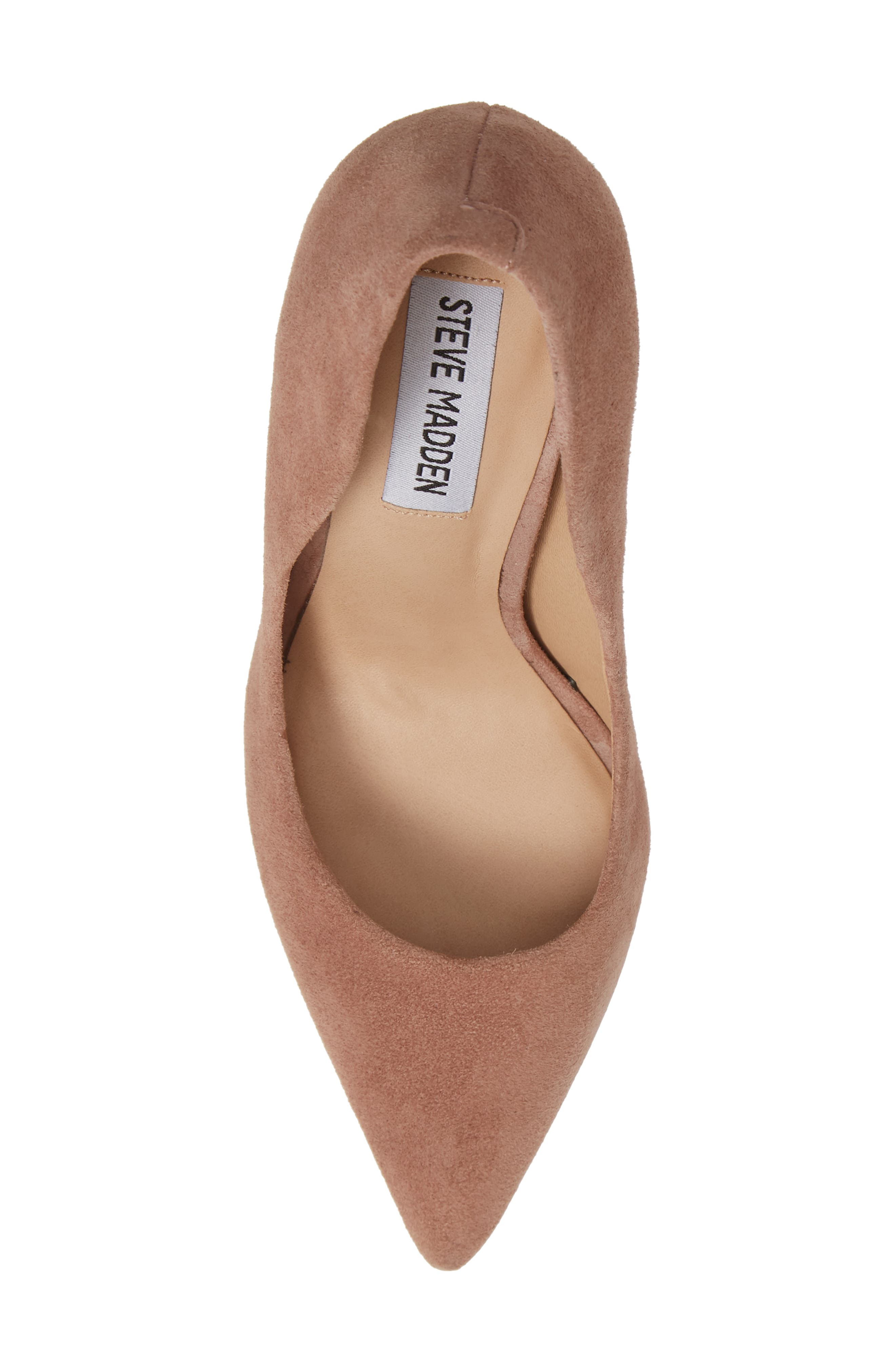 Daisie Pointy-Toe Pump,                             Alternate thumbnail 5, color,                             Tan Suede