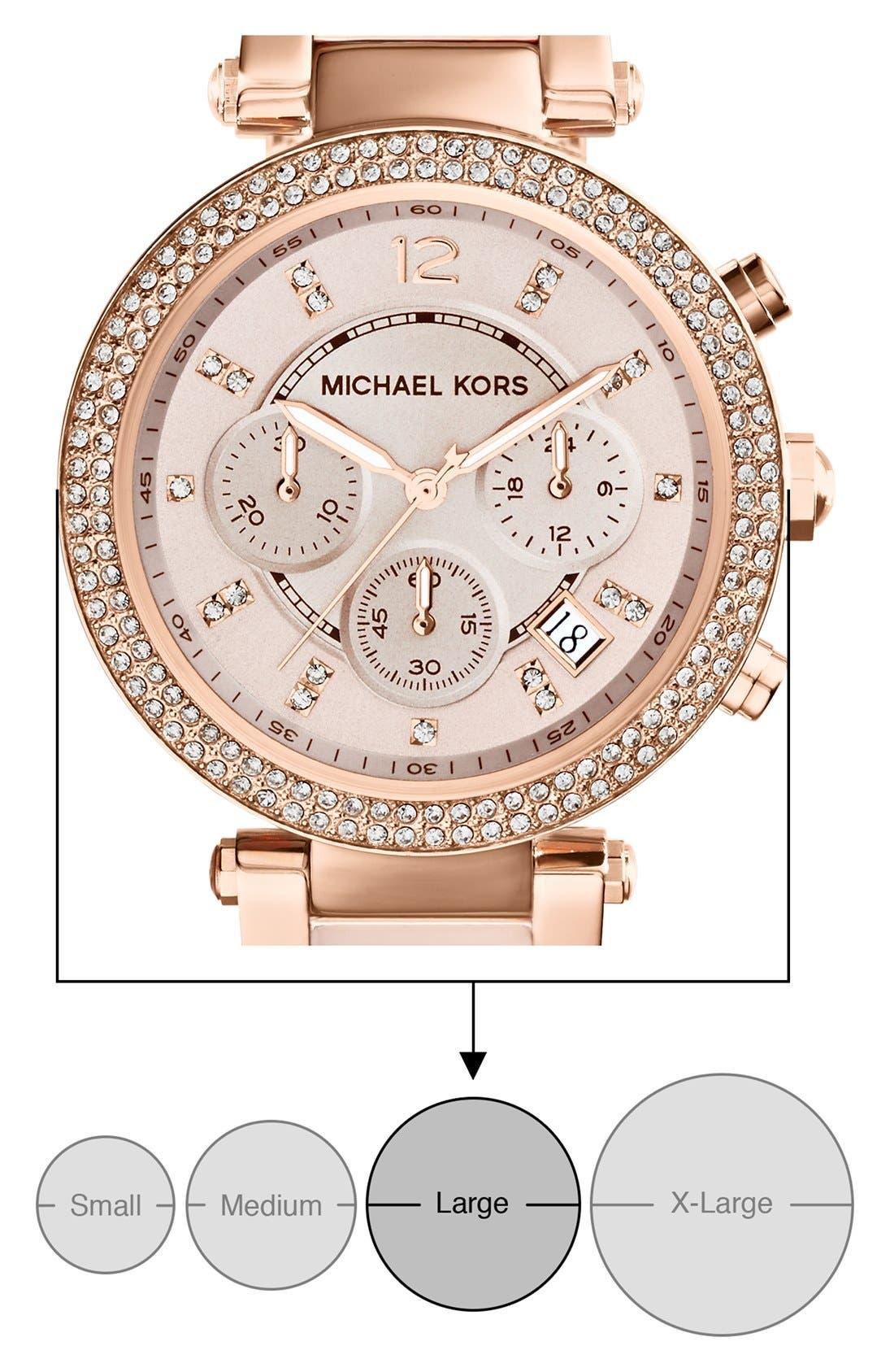 Alternate Image 6  - Michael Kors 'Parker' Blush Acetate Link Chronograph Watch, 39mm
