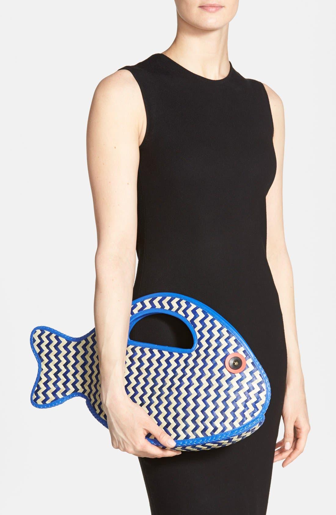 Alternate Image 2  - kate spade new york 'splash out - fish' straw tote