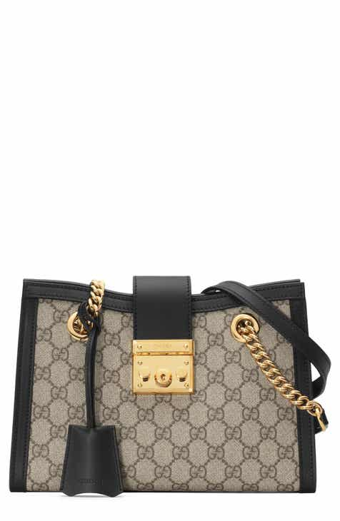f3160094cce2 Gucci Small Padlock GG Supreme Shoulder Bag