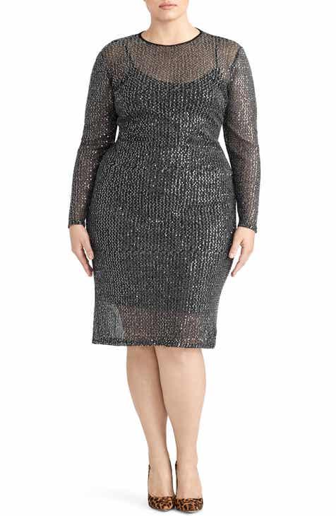 18a4f8a7934 Rachel Roy Collection Sequin Midi Dress (Plus Size)