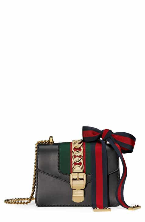 ab3efc3a93 Gucci Mini Sylvie Leather Shoulder Bag