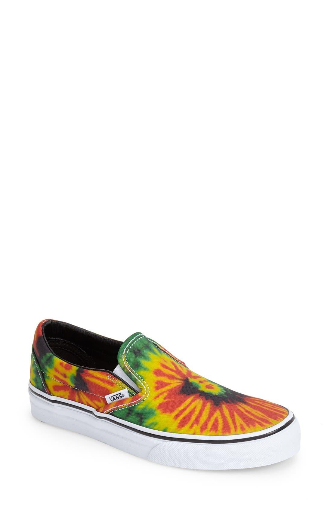 Alternate Image 1 Selected - Vans 'Tie Dye' Slip-On Sneaker (Women)