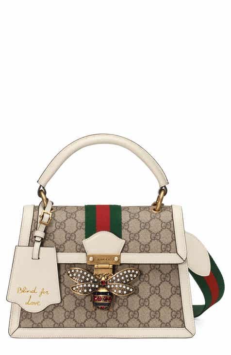 554a90bdece4 Gucci Queen Margaret GG Top Handle Satchel