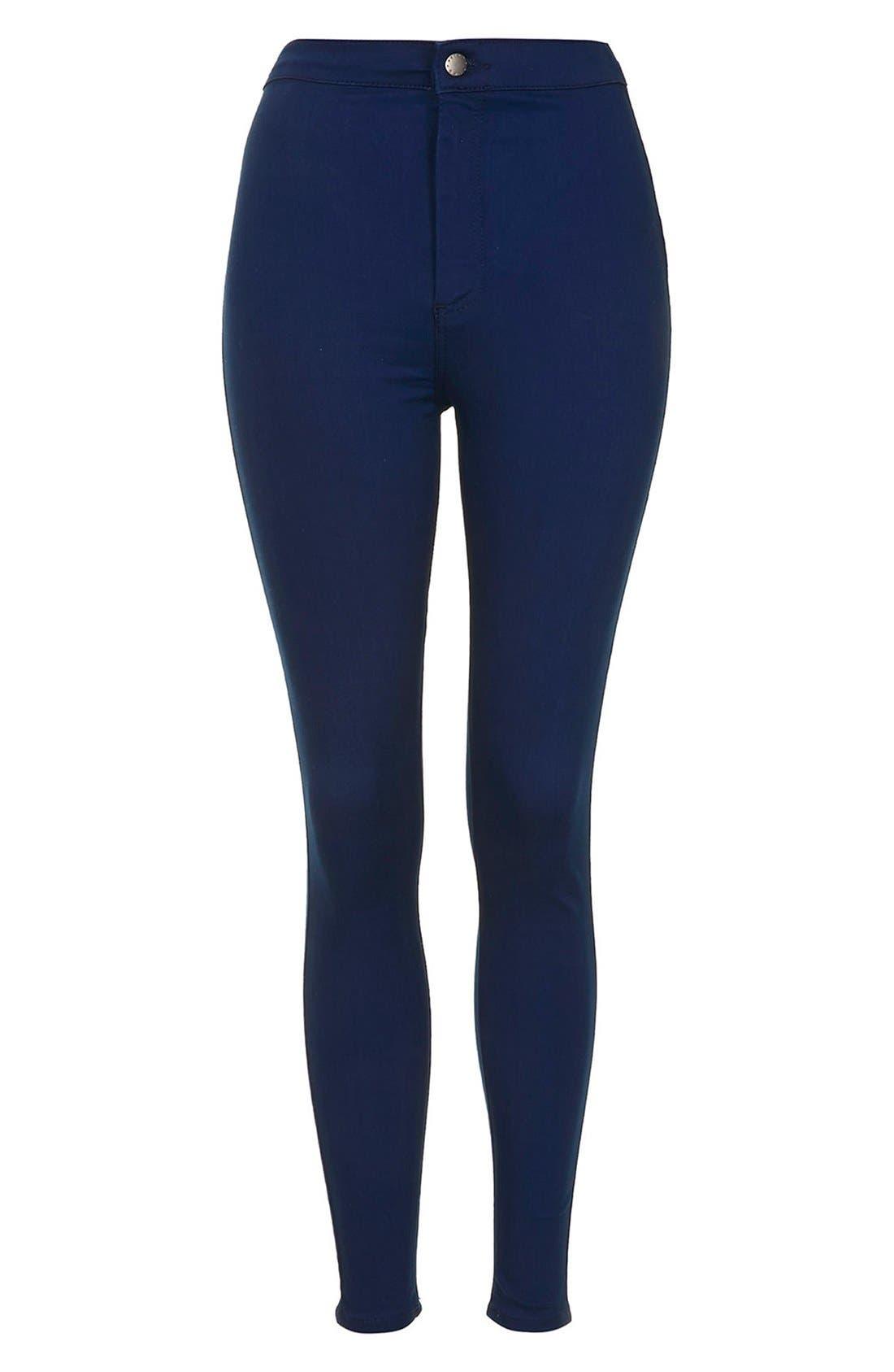 Alternate Image 3  - Topshop Moto 'Joni' High Rise Skinny Jeans (Bright Blue)